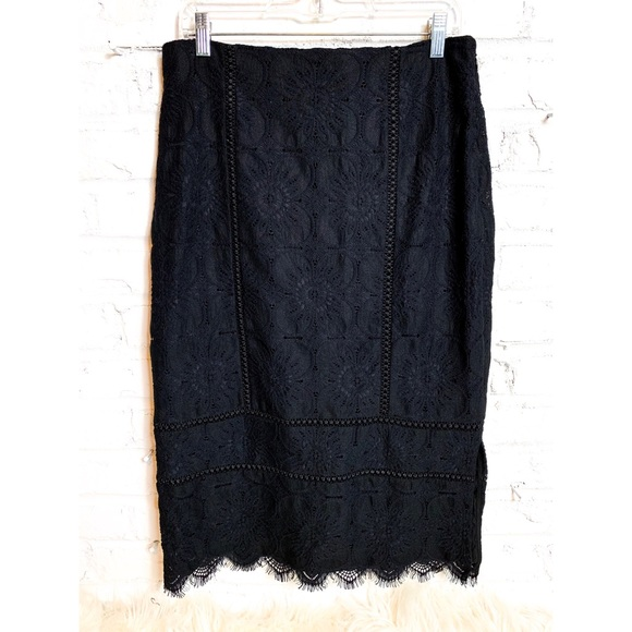 Banana Republic Dresses & Skirts - Banana Republic Black Lace Pencil Skirt
